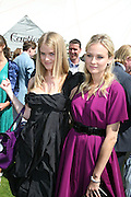 Alice Eve and Diane Kruger, Cartier International Polo. Guards Polo Club. Windsor Great Park. 29 July 2007.  -DO NOT ARCHIVE-© Copyright Photograph by Dafydd Jones. 248 Clapham Rd. London SW9 0PZ. Tel 0207 820 0771. www.dafjones.com.