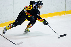 Jaka Plecko of Slavija at SLOHOKEJ league ice hockey match between HK Slavija and HK Triglav Kranj, on February 3, 2010 in Arena Zalog, Ljubljana, Slovenia. Triglaw won 4:1. (Photo by Vid Ponikvar / Sportida)