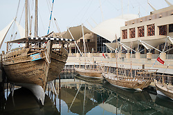 Dhow harbour at the Scientific Center in Kuwait City, Kuwait.