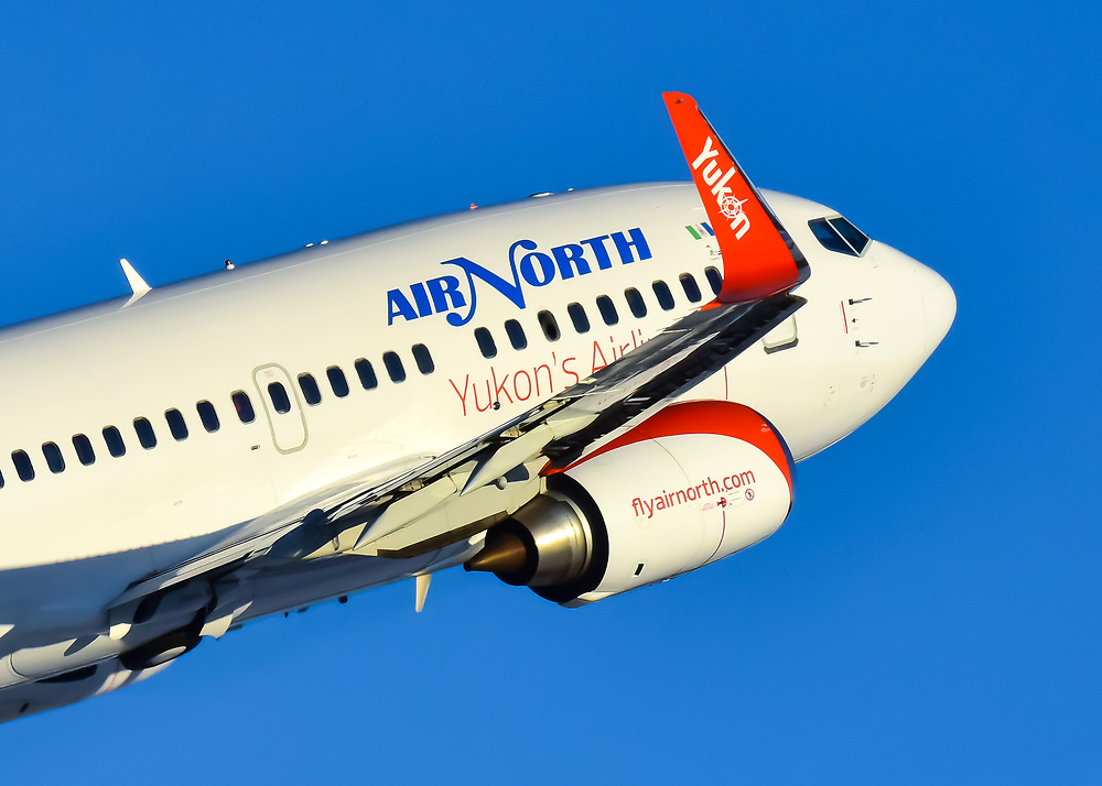 Air North 737 climbs into the blue