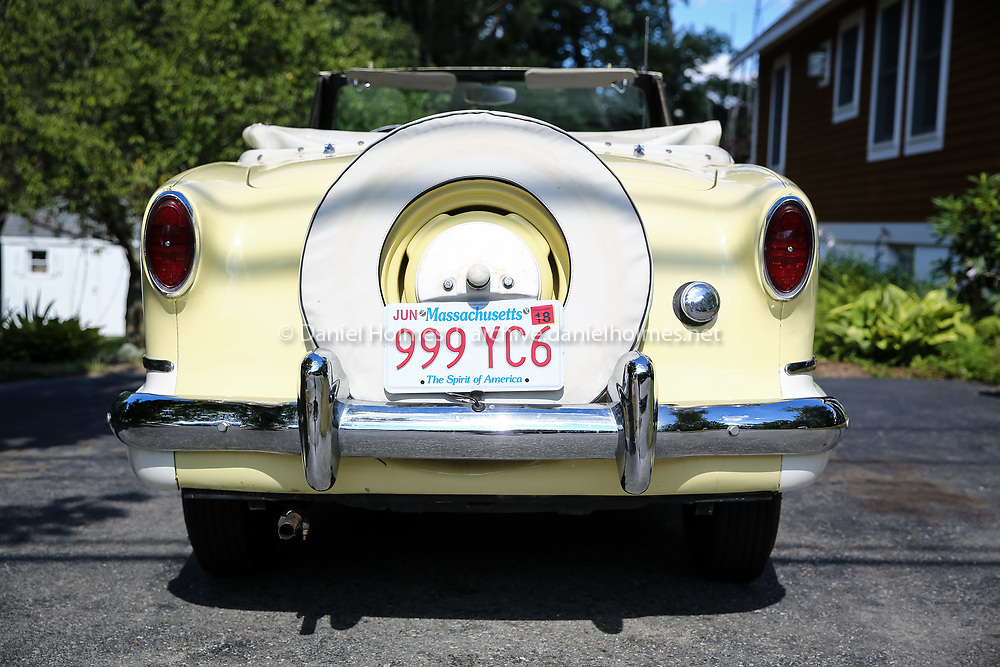 (7/26/16, NATICK, MA) The rear of Beth Byrne's 1959 Nash Metropolitan at her home in Natick on Tuesday. Daily News and Wicked Local Photo/Dan Holmes