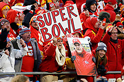 Kansas City Chiefs fans during an NFL, AFC Championship football game against the Tennessee Titans, Sunday, Jan. 19, 2020, in Kansas City, MO. The Chiefs won 35-24 to advance to Super Bowl 54. Photo/Colin E. Braley Colin Eric Braley Photography