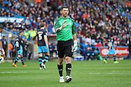 Sheffield Wednesday Goalkeeper Keiren Westwood looks on. Skybet football league Championship match, Huddersfield Town v Sheffield Wednesday at the John Smith's Stadium in Huddersfield, Yorkshire on Saturday 2nd April 2016.<br /> pic by Chris Stading, Andrew Orchard sports photography.
