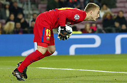 December 5, 2017 - Barcelona, Catalonia, Spain - Jasper Cillessen during the UEFA Champions League match between FC Barcelona v Sporting CP, in Barcelona, on December 05, 2017. (Credit Image: © Joan Valls/NurPhoto via ZUMA Press)