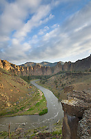 Crooked River flowing through Smith Rock State Park Oregon