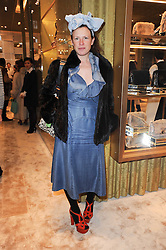 KATIE GRAND at a Cocktail party to celebrate the opening of the new Miu Miu boutique, 150 New Bond Street, London hosted by Miuccia Prada and Patrizio Bertelli on 3rd December 2010.