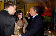 David Thewlis, Anna Friel and Charles Finch. Artists Independent Networks  Pre-BAFTA Party at Annabel's co hosted by Charles Finch and Chanel. Berkeley Sq. London. 11 February 2005. . ONE TIME USE ONLY - DO NOT ARCHIVE  © Copyright Photograph by Dafydd Jones 66 Stockwell Park Rd. London SW9 0DA Tel 020 7733 0108 www.dafjones.com
