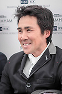 Yoshiaki Oiwa during the press conference following his victory at the Bramham International Horse Trials 2017 at  at Bramham Park, Bramham, United Kingdom on 11 June 2017. Photo by Mark P Doherty.