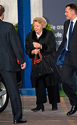 © London News Pictures. 03/03/2012. London, UK. Queen Beatrix of the Netherlands  leaving The Wellington Hospital in London on March 3rd, 2012 after visiting her son Prince Friso at His Hospital bed. Prince Johan Friso, who has been in a coma since a skiing accident two weeks ago, has been flown from Austria to the London Hospital. Photo credit : Ben Cawthra/LNP