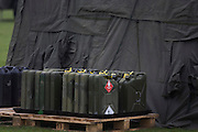 Secured flammable liquids in jerrycans relating to Rapier surface-to-air missiles stationed on Blackheath, a security measure in readiness for the London 2012 Olympic games.