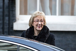 © Licensed to London News Pictures. 19/12/2017. London, UK. Leader of the House of Commons Andrea Leadsom arrives on Downing Street for the weekly Cabinet meeting. Photo credit: Rob Pinney/LNP