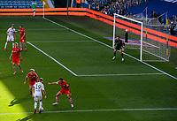 Leeds United's Pablo Hernandez attacks the Barnsley defence<br /> <br /> Photographer Alex Dodd/CameraSport<br /> <br /> The EFL Sky Bet Championship - Leeds United v Barnsley - Thursday 16th July 2020 - Elland Road - Leeds<br /> <br /> World Copyright © 2020 CameraSport. All rights reserved. 43 Linden Ave. Countesthorpe. Leicester. England. LE8 5PG - Tel: +44 (0) 116 277 4147 - admin@camerasport.com - www.camerasport.com