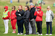 Some of the crowds watching on during the final round at the Irish Woman's Open Stroke Play Championship, Co. Louth Golf Club, Louth, Ireland. 12/05/2019.<br /> Picture Fran Caffrey / Golffile.ie<br /> <br /> All photo usage must carry mandatory copyright credit (© Golffile | Fran Caffrey)