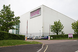 © Licensed to London News Pictures. 20/05/2014. Basingstoke, Hampshire, UK. A general view of the entrance to the Game Retail Headquarters in Basingstoke, Hampshire this morning, 20th May 2014. Game Retail Limited, the video game retailer is to float on the London Stock Exchange at a value of£400m. The Initial Public Offering (IPO) is expected to take place within the next four weeks, two years after falling into administration. The business will be renamed to Game Digital. Photo credit : Rob Arnold/LNP