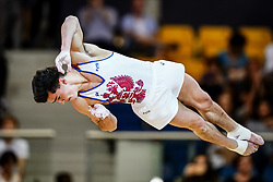 November 2, 2018 - Doha, Qatar - Artur Dalaloyan of Russia   during  Floor for Men at the Aspire Dome in Doha, Qatar, Artistic FIG Gymnastics World Championships on 2 of November 2018. (Credit Image: © Ulrik Pedersen/NurPhoto via ZUMA Press)