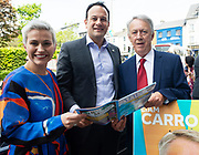 17/05/2019   MEP Candidate Maria Walsh got a big push from party leader and Taoiseach Leo Varadkar in Galway  as the team canvassed the town and was joined by local Galway County candidate Liam Carroll. Photo:Andrew Downes, Xposure