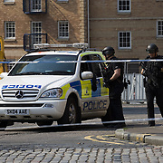Midlothian Police  incident scene in residential area of Edinburgh, Scotland<br />