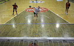 Neza Mitrusevska of Olimpija at  handball game between women team RK Olimpija vs ZRK Brezice at 1st round of National Championship, on September 13, 2008, in Arena Tivoli, Ljubljana, Slovenija. Olimpija won 41:17. (Photo by Vid Ponikvar / Sportal Images)