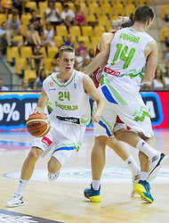 Klemen Prepelic of Slovenia during friendly match between National teams of Slovenia and Turkey for Eurobasket 2013 on August 4, 2013 in Arena Zlatorog, Celje, Slovenia. (Photo by Vid Ponikvar / Sportida.com)