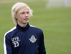 Linus Bondo Jensen (FC Helsingør) under kampen i Sydbank Pokalen, 1. runde, mellem Bispebjerg Boldklub og FC Helsingør den 2. september 2020 i Lersø Parken (Foto: Claus Birch).