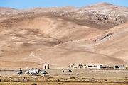 Caravan in the high altitude desert of Bamyan, Afghanistan