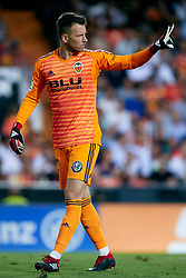 August 20, 2018 - Valencia, Valencia, Spain - Norberto Murara Neto of Valencia CF reacts during the La Liga match between Valencia CF and Club Atletico de Madrid at Mestalla on August 20, 2018 in Valencia, Spain  (Credit Image: © David Aliaga/NurPhoto via ZUMA Press)