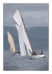 The final day of racing of the Fife Regatta on the King's Course North of Great Cumbrae<br /> Fiona, Didier Cotton, FRA, Gaff Cutter, Wm Fife 3rd, 2005<br /> <br /> <br /> * The William Fife designed Yachts return to the birthplace of these historic yachts, the Scotland's pre-eminent yacht designer and builder for the 4th Fife Regatta on the Clyde 28th June–5th July 2013<br /> <br /> More information is available on the website: www.fiferegatta.com