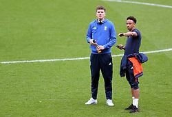 Birmingham City's Sam Gallagher and Birmingham City's Sam Gallagher on the pitch before the match
