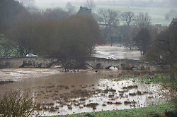 © Licensed to London News Pictures 28/12/2020.        Teston, UK. Flooding at Teston Bridge in Kent due to high water levels on the River Medway. Yalding and Wateringbury also have some flooding. Photo credit:Grant Falvey/LNP