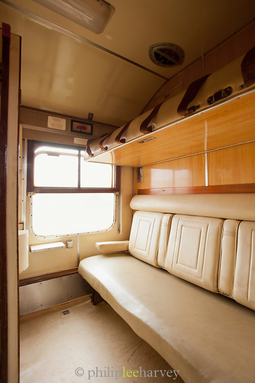 A sleeper cabin on a Kenyan Railways train, which is steeped in colonial history, in Mombasa, Kenya