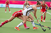 ANTWERP - BELFIUS EUROHOCKEY Championship.   Germany-England (1-1) women . Franzisca Hauke (Ger) with Lily Owsley (Eng) WSP/ KOEN SUYK