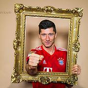 Robert Lewandowski, Stuermer beim FC Bayern Muenchen, Rekordtorschuetze, Muenchen. 28.01.2019<br /> ©Martin Hangen/hangenfoto