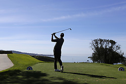 January 27, 2019 - San Diego, CA, USA - Adam Scott tees off on the 3rd hole during the fourth round of the Farmers Insurance Open at the Torrey Pines Golf Course in San Diego on Sunday, Jan. 27, 2019. (Credit Image: © K.C. Alfred/San Diego Union-Tribune/TNS via ZUMA Wire)