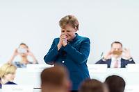 07 DEC 2018, HAMBURG/GERMANY:<br /> Angela Merkel, CDU, Bundeskanzlerin, nach Ihrer letzten Rede als Parteivorsitzende, CDU Bundesparteitag, Messe Hamburg<br /> IMAGE: 20181207-01-093<br /> KEYWORDS: party congress, Appluas, applaudiren, klatschen, Jubel