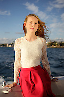 1 November 2014: Karen, Alexandra and Nicholas Pierce on personal yacht in Newport Beach, CA.