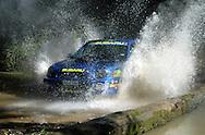 Cody Crocker & Greg Foletta.Subaru Impreza WRX.2003 Falken Rally of Queensland.Imbul State Forest, QLD.13th-15th of June 2003 .(C) Joel Strickland Photographics