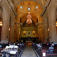 Central America, Cuba, Havana. Sunday mass in Cathedral of Havana.