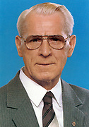 Willi Stoph (1914-1999) East German politician. Prime Minister (Chairman of the Council of Ministers) of the German Democratic Republic (East Germany) from 1964 to 1973, and again from 1976 until 1989.