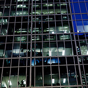 Empty office by night