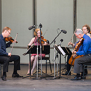 """The American String Quartet performs Charles Ives' """"String Quartet No. 2"""" at Libbey Bowl on June 9, 2013 in Ojai, California."""