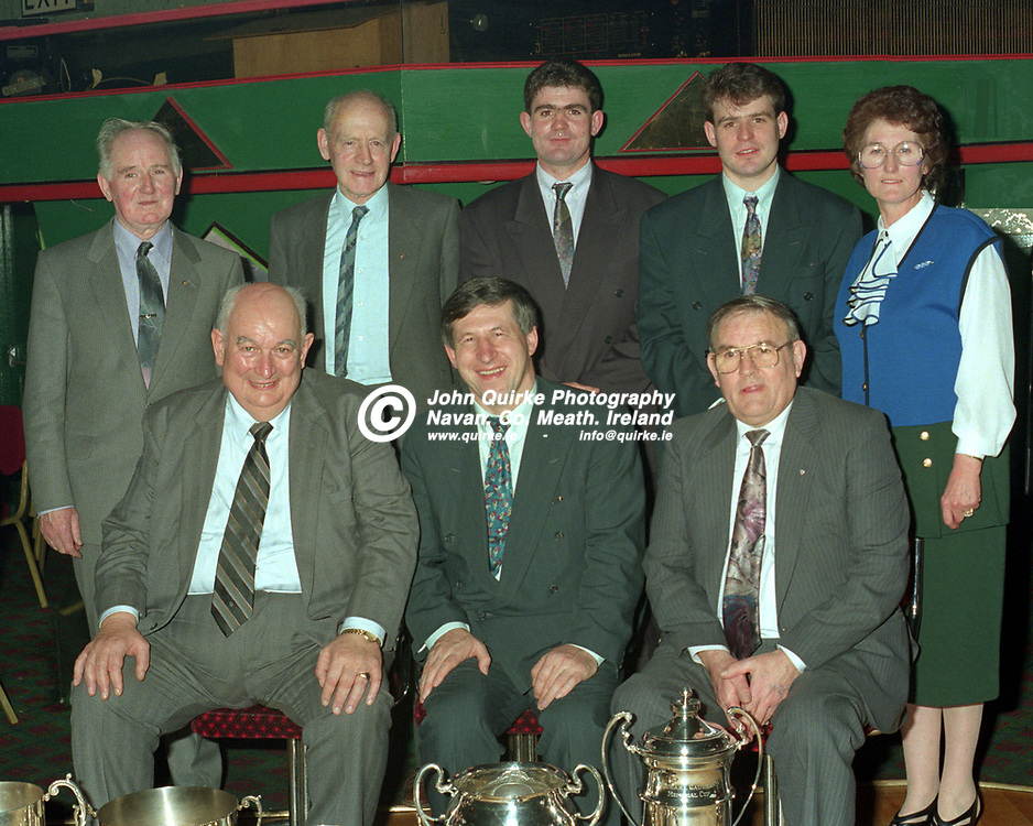 21-01-1994. Carnaross GAA Club Annual Dinner and Awards Presentations 1993 at the Headfort Arms Hotel, Kells.<br /> Photo: John Quirke / www.quirke.ie<br /> ©John Quirke Photography, 16 Proudstown Road, Navan. Co. Meath. (info@quirke.ie / 046-9028461 / 087-2579454).