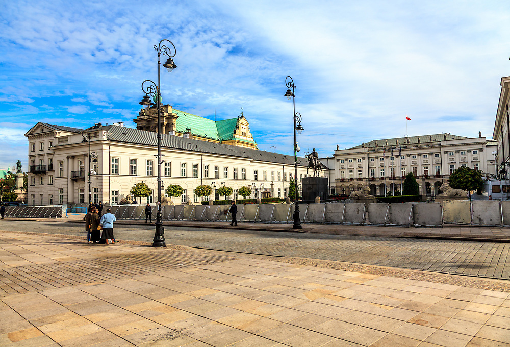 The Presidential Palace in Warsaw, Poland. The palace is the official seat of the President of the Republic of Poland.