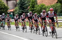 Matteo TRENTIN of UAE TEAM EMIRATES during 2nd Stage of 27th Tour of Slovenia 2021 cycling race between Zalec and Celje (147 km), on June 10, 2021 in Slovenia. Photo by Vid Ponikvar / Sportida