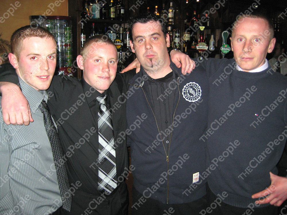 James Keane, Anthony Keane, Mick Cronin and Jamie Kenneally at the Banner GAA function.
