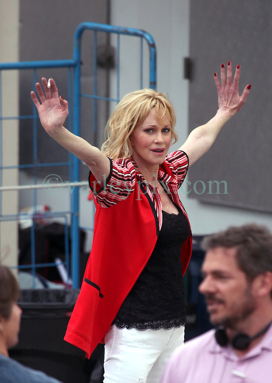 22 Feb 2012. Lafitte, Louisiana USA. .Melanie Griffith, Hollywood actress on the set of the movie 'Hot Flashes' filming on location at the 'Piggly Wiggly' grocery store in the small fishing town of Lafitte, just south of New Orleans..Photo; Charlie Varley