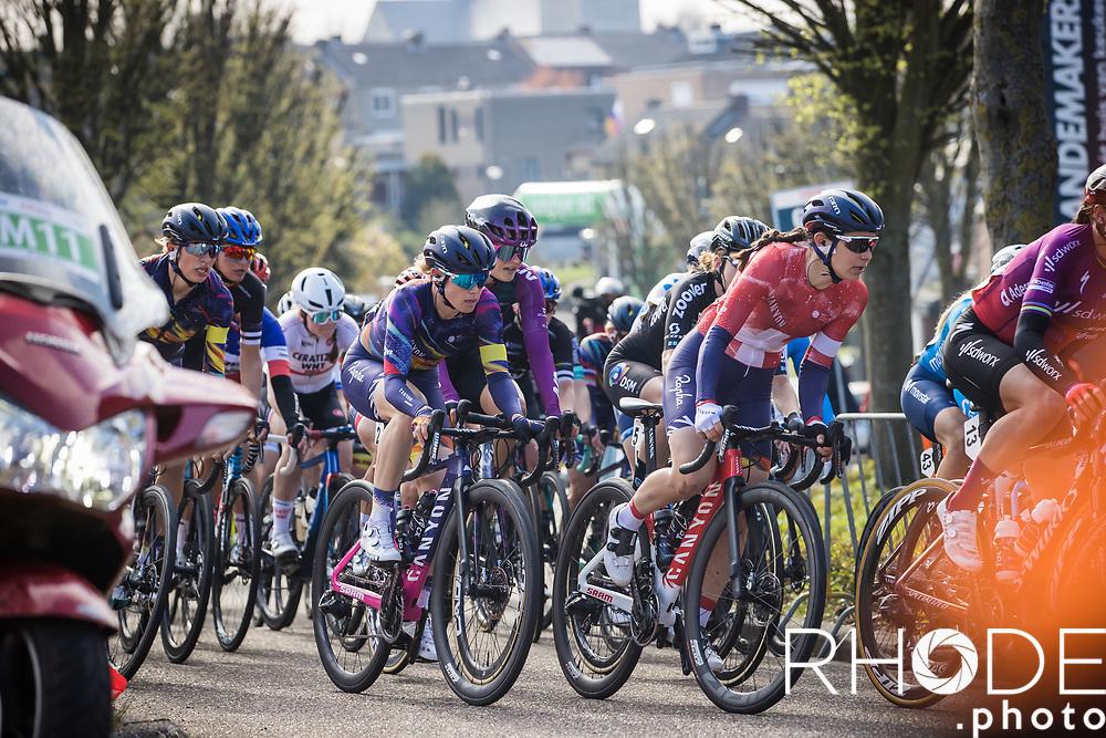 Up the Geulhemmerberg with Elise Chabey (SUI/Canyon SRAM)<br /> <br /> 7th Amstel Gold Race Ladies Edition <br /> Valkenburg > Valkenburg 116km<br /> <br /> ©RhodePhoto