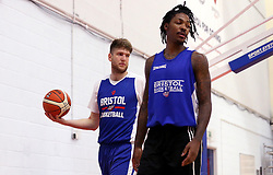 New signing for the Bristol Flyers, Michael Vigor and Lovell Cook take part in training - Mandatory by-line: Robbie Stephenson/JMP - 05/09/2016 - BASKETBALL - SGS Wise Arena - Bristol, England - Bristol Flyers - British Basketball League - Bristol Flyers New Signings -