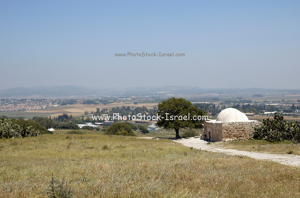 Sheikh Abrek Tomb, over looking the Yizrael, valley, Israel