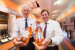 Robin Barr and Jonathan Kemp (Commercial Director) at A. G. Barr, who are planning an announcement next week regarding Irn Bru glass bottles.