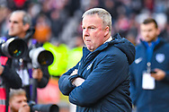 Kenny Jackett of Portsmouth (Manager) during the EFL Sky Bet League 1 first leg Play Off match between Sunderland and Portsmouth at the Stadium Of Light, Sunderland, England on 11 May 2019.